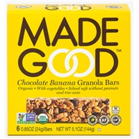 Made Good Organic Chocolate Banana Granola Bars Food Product Image