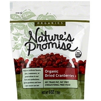 Nature's Promise Organic Dried Cranberries Food Product Image