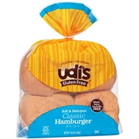 Udi's Gluten Free Classic Hamburger Buns - 4 Ct Food Product Image