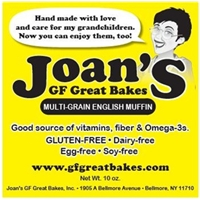 Joan's Gf Great Bakes Multi-Grain English Muffin Food Product Image