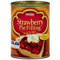 Meijer Pie Filling Strawberry Food Product Image
