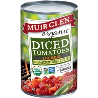 Muir Glen Fire Roasted Tomatoes with Green Chile Food Product Image