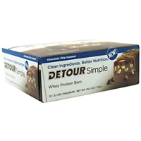 Detour Simple Whey Protein Bars Chocolate Chip Caramel - 12 CT Food Product Image