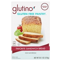 Glutino Gluten Free Pantry Favorite Sandwich Bread Food Product Image