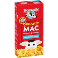 Horizon Organic Mac Elbows & Cheese Mild Cheddar Food Product Image