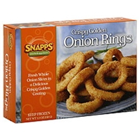 Snapps Onion Rings Crispy Golden Food Product Image