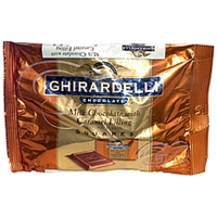 Ghirardelli Chocolate Milk Chocolate Squares With Caramel Filling Food Product Image
