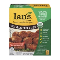 Ian's Whole Grain Gluten Free Organic Chicken Nuggets Food Product Image
