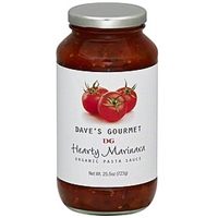 Daves Gourmet Pasta Sauce Organic, Hearty Marinara Food Product Image