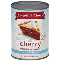 Americas Choice Pie Filling Or Topping Light, Cherry Food Product Image