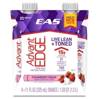 EAS AdvantEDGE Carb Control Shakes Strawberry Cream - 4 CT Food Product Image