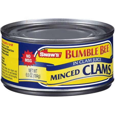Snow's By Bumble Bee Minced Clams Food Product Image