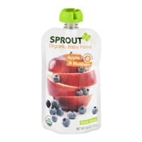 Sprout Organic Baby Food Apple & Blueberry Food Product Image