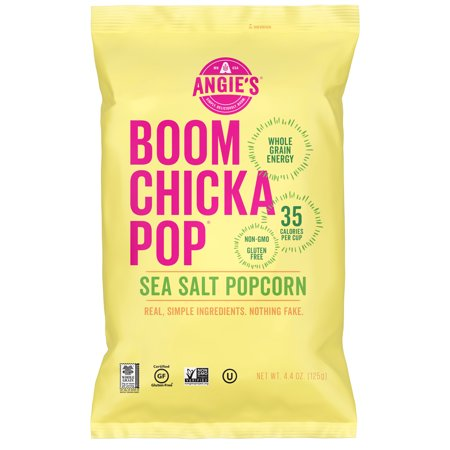 Angie's BOOMCHICKAPOP Sea Salt Popcorn Food Product Image