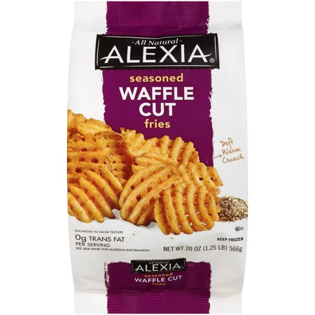 Alexia All Natural Waffle Fries with Seasoned Salt Food Product Image