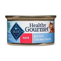 Blue Buffalo Healthy Gourmet Kitten Pate Chicken Entree Wet Cat Food - 3oz Food Product Image