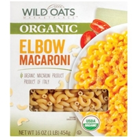 Wild Oats Organic Elbow Macaroni Pasta, 16 oz Food Product Image