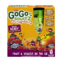 GoGo Squeez Fruit & Veggiez Fruit & Veggies On The Go Boulder Berry - 4 CT Food Product Image