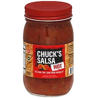 Chucks Salsa Salsa Hot Food Product Image