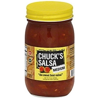 Chucks Salsa Salsa Medium Food Product Image