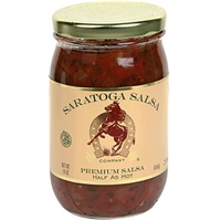 Saratoga Salsa Company Premium Salsa Half As Hot Food Product Image