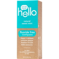 Hello Natural Sweet Mint Fluoride Free Toothpaste Food Product Image