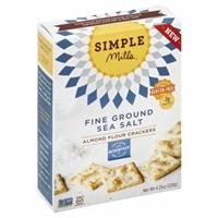 Simple Mills Fine Ground Sea Salt Almond Flour Crackers Food Product Image
