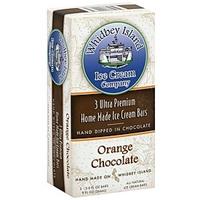 Whidbey Island Ice Cream Ice Cream Bars Ultra Premium, Home Made, Orange Chocolate Food Product Image