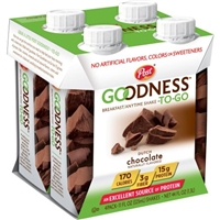 Post Goodness-To-Go Dutch Chocolate Breakfast/Anytime Shake, 11 fl oz, 4 count Food Product Image