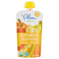 Plum Organics Organic Baby Food Pumpkin & Banana Stage 2 Food Product Image