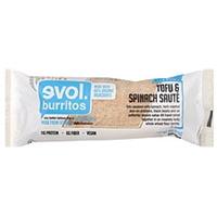 Evol Burrito Tofu & Spinach Saute Food Product Image
