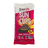 Free2b Sun Cups Dark Chocolate - 2 CT Food Product Image
